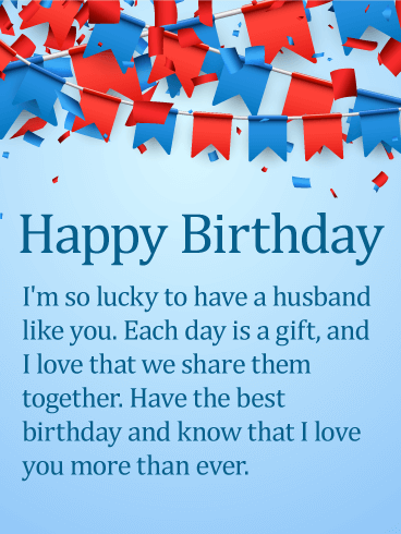 Romantic Birthday Love Messages  |Birthday Greetings For Husband Love