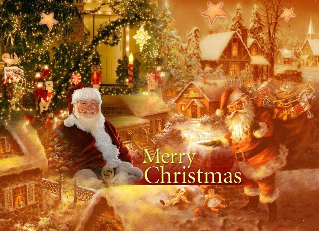50+ Most Beautiful Merry Christmas Santa Clause Hd Pictures And ...