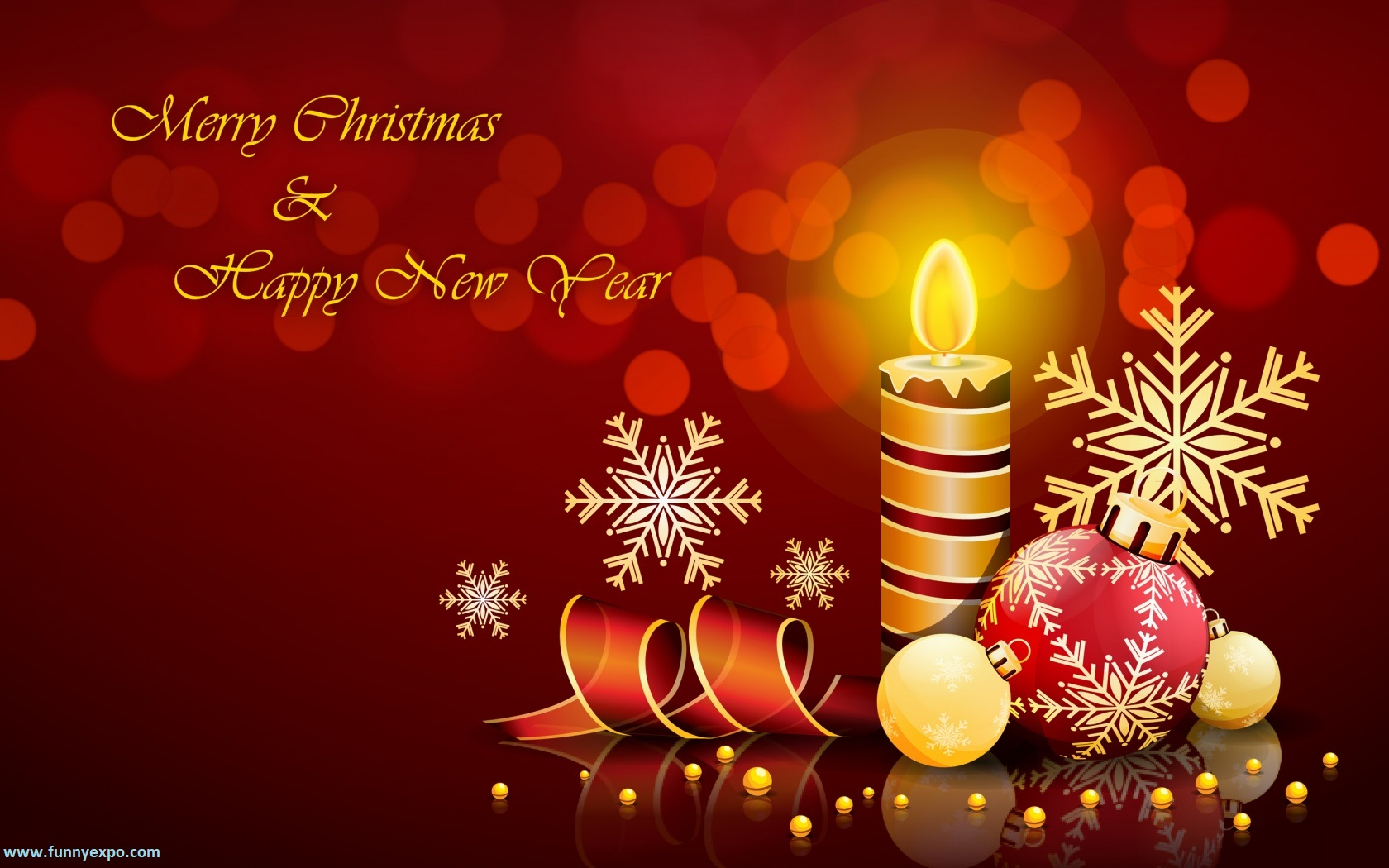 Best Merry Christmas And Happy New Year Candles Wallpaper - Funnyexpo