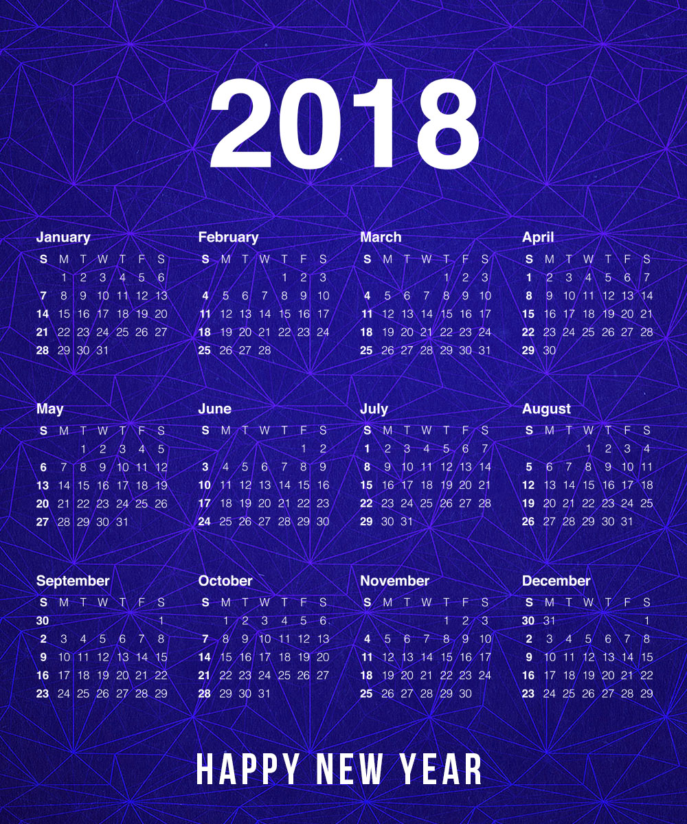 Best Happy New Year 2018 Calendar Images Free Download - Funnyexpo