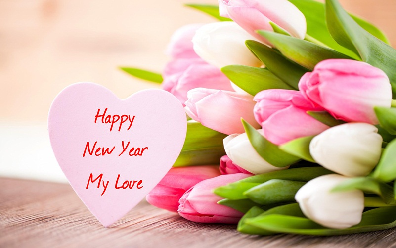 beautiful happy new year 2018 flowers picture for lovers