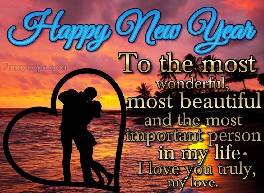 50 Romantic Happy New Year 2021 Love Wishes Pictures ...